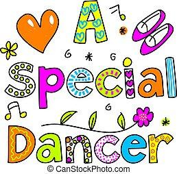 a, 특별한, 춤추는 사람