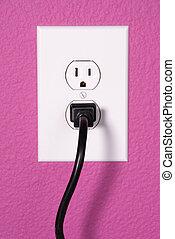 A 110 volt wall outlet