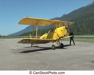 Tiger Moth Airplane - A 1938 Tiger Moth Airplane
