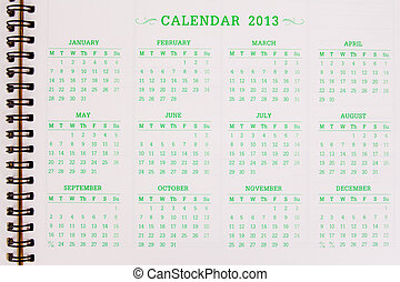 A 2013 calendar