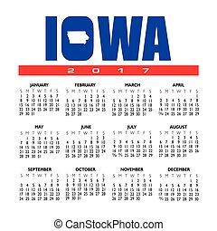 A 2017 creative Iowa calendar