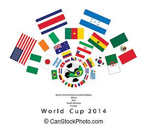 a, 32, nemzetek, alatt, 2014, világbajnokság