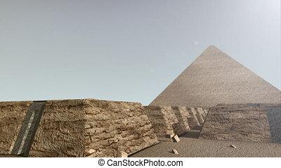 3D animation of the Giza platform Egypt - A 3D animation of...