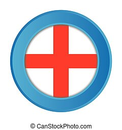 3D Button with the Flag of England