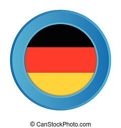 3D Button with the Flag of Germany