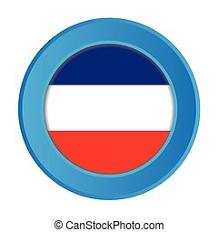 3D Button with the Flag of Yugoslavia