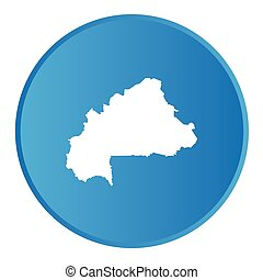 3D button with the outline of the country of Burkina Faso