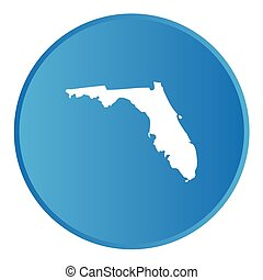A 3D Button with the shape of American State - Florida