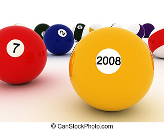 2008 - A 3d composition of the 2008 billiards game