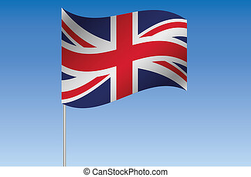 3D Flag Illustration waving in the sky of the country of ...