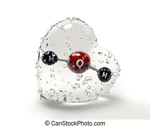 A 3D Illustration molecule of water