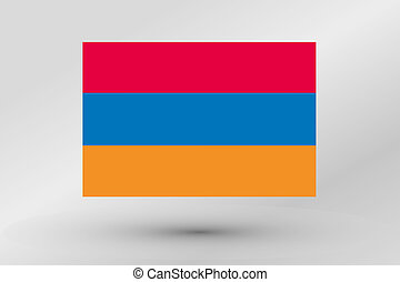 3D Isometric Flag Illustration of the country of Armenia - A...