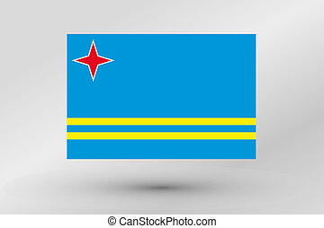 3D Isometric Flag Illustration of the country of Aruba - A ...
