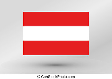 3D Isometric Flag Illustration of the country of Austria - A...
