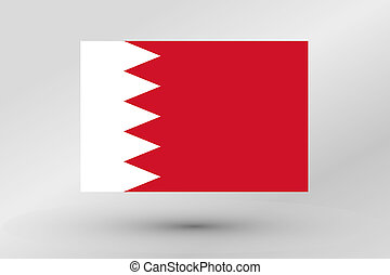 3D Isometric Flag Illustration of the country of Bahrain - A...