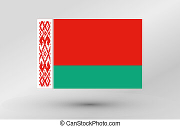 3D Isometric Flag Illustration of the country of Belarus - A...