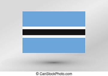3D Isometric Flag Illustration of the country of Botswana - ...