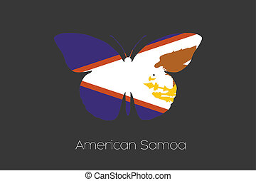 3D Isometric Flag Illustration of the country of Brazil American Samoa