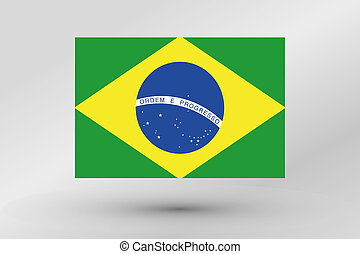 3D Isometric Flag Illustration of the country of Brazil - A ...