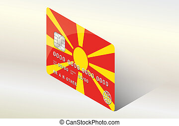 3D Isometric Flag Illustration of the country of Macedonia