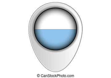 3D Map Pointer Flag Illustration of the country of San Marino