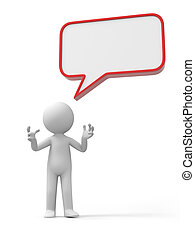 A 3d person talking back to a dialog