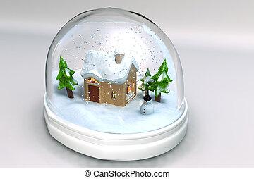 snowglobe - A 3D render of a snowglobe