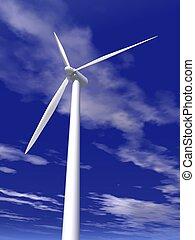wind turbine - a 3d rendering of a wind turbine