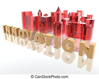 a 3d rendering to illustrate innovation concept