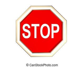 a 3d stop sign
