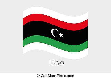 3D Waving Flag Illustration of the country of Libya-46