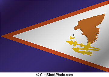 3D Wavy Flag Illustration of the country of American Samoa