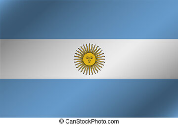 3D Wavy Flag Illustration of the country of Argentina