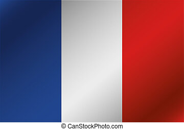 3D Wavy Flag Illustration of the country of France