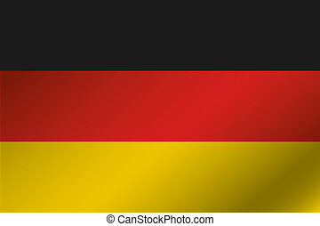 3D Wavy Flag Illustration of the country of Germany