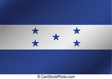 3D Wavy Flag Illustration of the country of Honduras