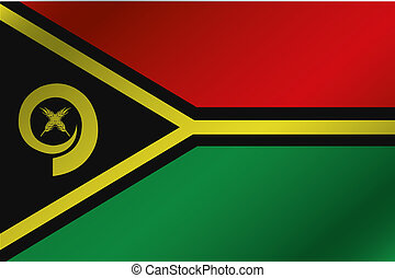 3D Wavy Flag Illustration of the country of Vanuatu