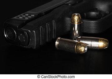 a, 45, ミリメートル, 口径, 銃