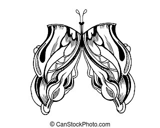 abstract graphic design butterfly