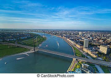 aerial view of Dusseldorf city