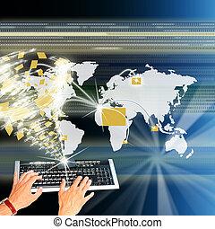 a, alto, a, tecnologia, internet