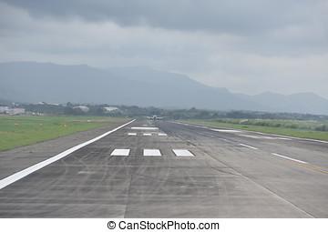 a, ansicht, von, ende, von, a, runway.
