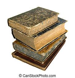 a, antiga, livros