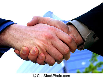 a, aperto mão