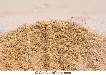 a, areia, praia, natureza