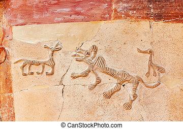 a, arte antiga, em, a, museu, de, anatolian, civilizações, -, ancara, peru
