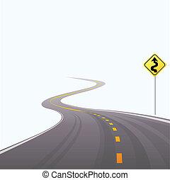 a, asphalted, estrada