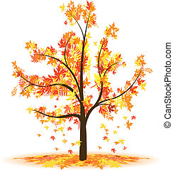 a autumn abstract tree