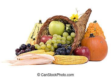 Cornucopia - A autumn horn of plenty. Cornucopia full of ...