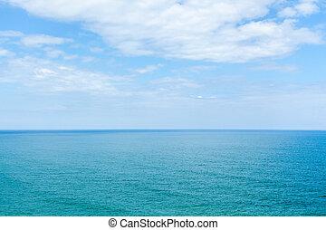 a, azul, mar, e, a, céu